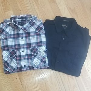 TWO Men's Helix Button Down Shirts